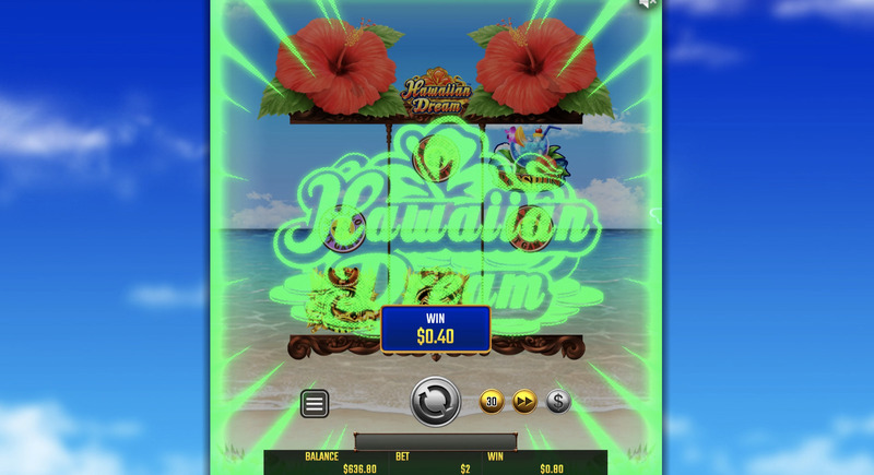 ハワイアンドリームプレイ画面